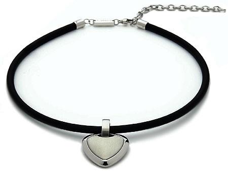 Magnetický náhrdelník z čiernej gumy energetix